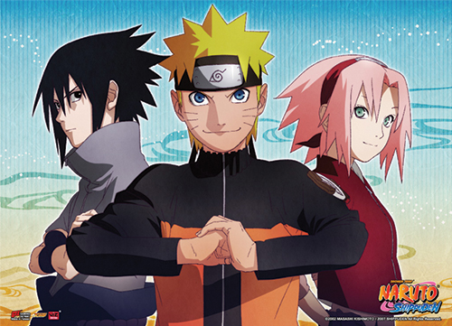 Naruto Shippuden - Naruto, Sasuke & Sakura Key Art Fabric Poster, an officially licensed product in our Naruto Shippuden Posters department.