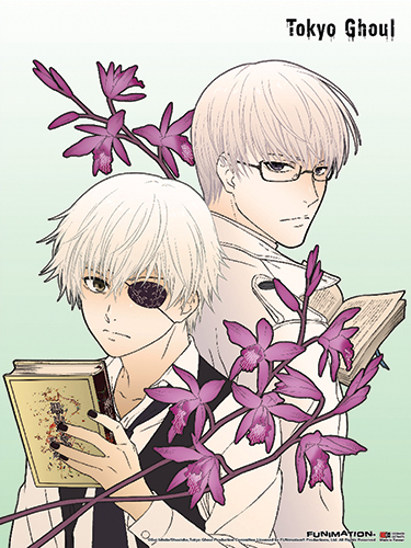 Tokyo Ghoul - Kaneki & Arima Fabric Poster, an officially licensed product in our Tokyo Ghoul Posters department.
