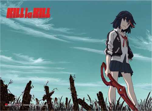 Kill La Kill - Ryuko & Sky Fabric Poster, an officially licensed product in our Kill La Kill Posters department.