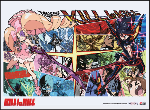 Kill La Kill - Ryuko Vs Nui Fabric Poster, an officially licensed product in our Kill La Kill Posters department.