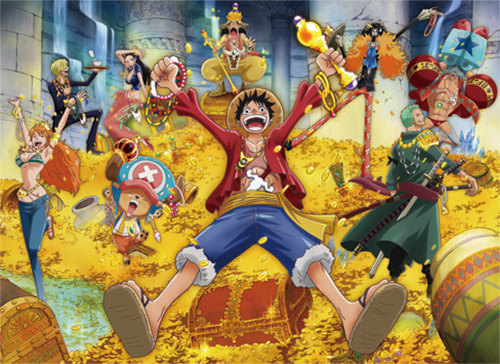 One Piece - New World Luffy Group 03 Fabric Poster officially licensed One Piece Posters product at B.A. Toys.
