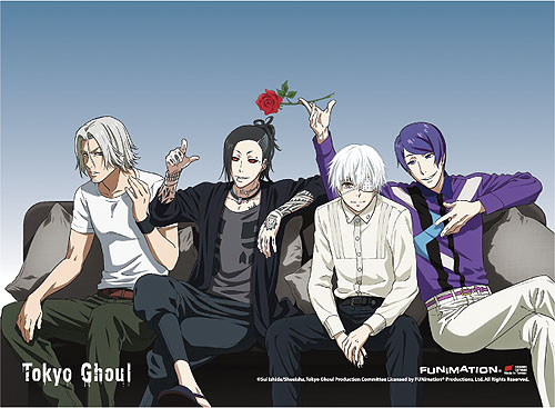 Tokyo Ghoul - Group 06 Fabric Poster officially licensed Tokyo Ghoul Wall Scroll Posters product at B.A. Toys.