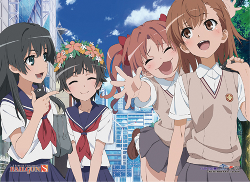 Railgun S - Group 04 Fabric Poster, an officially licensed product in our A Certain Scientific Railgun Posters department.
