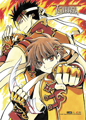 Tsubasa Reservoir Chronicles - Shyoran & Kurogane Fabric Poster, an officially licensed product in our Tsubasa Posters department.