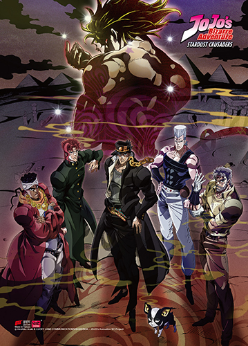 Jojo - S3 Group Fabric Poster, an officially licensed product in our Jojo'S Bizarre Adventure Posters department.