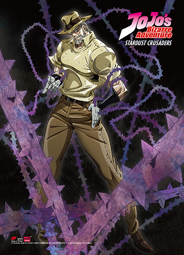 Jojo - Joseph Fabric Poster, an officially licensed product in our Jojo'S Bizarre Adventure Posters department.