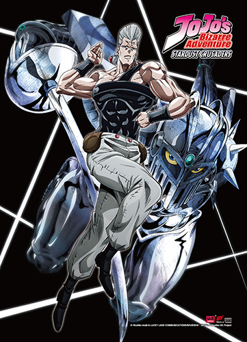 Jojo - Polnareff Fabric Poster, an officially licensed product in our Jojo'S Bizarre Adventure Posters department.