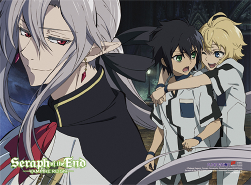 Seraph Of The End - Group 01 Fabric Poster, an officially licensed product in our Seraph Of The End Posters department.