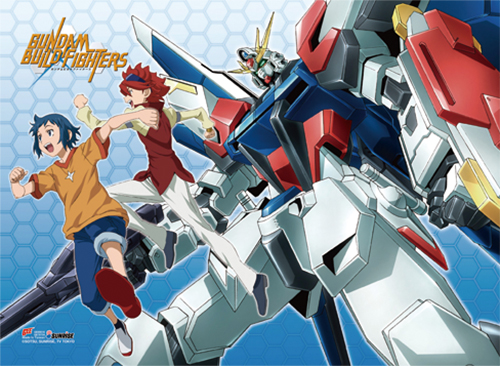 Gundam Build Fighters - Group Fabric Poster, an officially licensed product in our Gundam Build Fighters Try Posters department.