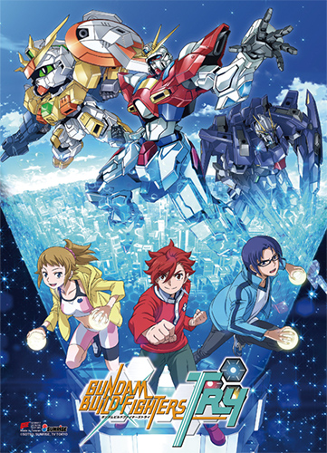 Gundam Build Fighters Try - Key Art Fabric Poster, an officially licensed product in our Gundam Build Fighters Try Posters department.
