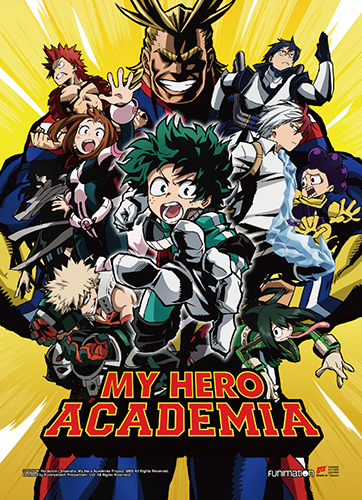 My Hero Academia - Key Art 1 Fabric Poster, an officially licensed product in our My Hero Academia Posters department.