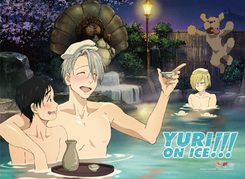 Yuri!!! On Ice - Hot Spring Fabric Poster, an officially licensed product in our Yuri!!! On Ice Posters department.
