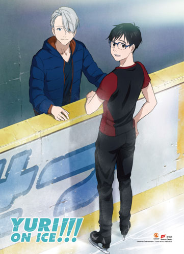 Yuri!!! On Ice - Yuri & Victoru 1 Fabric Poster, an officially licensed product in our Yuri!!! On Ice Posters department.