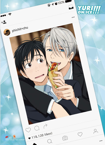Yuri!!! On Ice - Yuri & Victor U 2 Fabric Poster, an officially licensed product in our Yuri!!! On Ice Posters department.