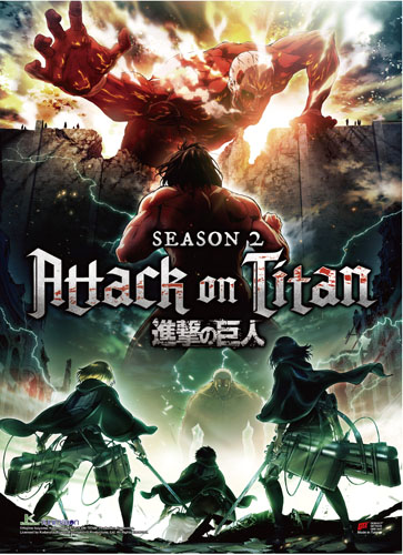 Attack On Titan S2 - Key Art Fabric Poster, an officially licensed Attack On Titan product at B.A. Toys.