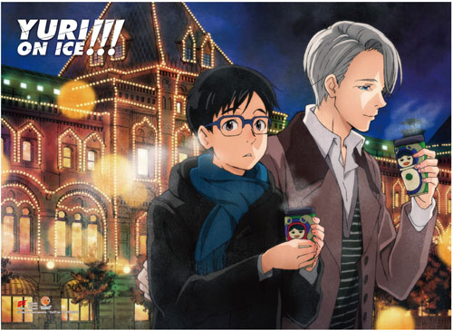 Yuri On Ice!!! - Yuri & Victor 3 Fabric Poster, an officially licensed product in our Yuri!!! On Ice Posters department.