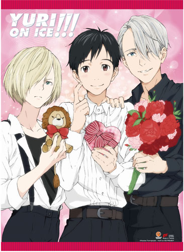 Yuri On Ice!!! - Yuri, Victor, Yurio 8 Fabric Poster, an officially licensed product in our Yuri!!! On Ice Posters department.