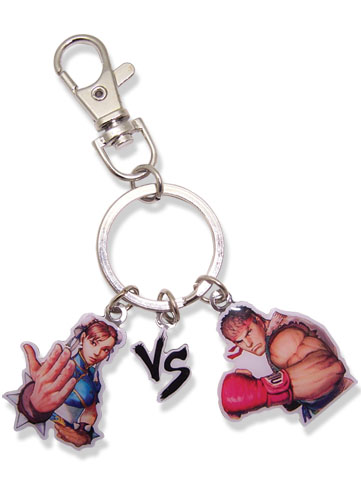 Super Street Fighter Iv Chun-Li Vs Ryu Keychain, an officially licensed product in our Super Street Fighter Key Chains department.
