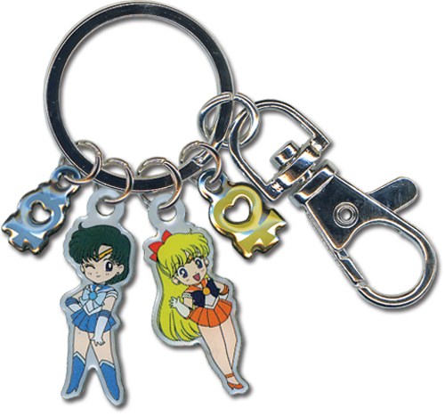 Sailormoon Sailor Mercury And Venus Metal Keychain, an officially licensed product in our Sailor Moon Key Chains department.