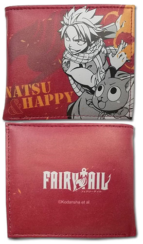 Fairy Tail - Natsu & Happy Boy Wallet, an officially licensed product in our Fairy Tail Wallet & Coin Purse department.