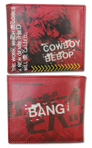 Cowboy Bebop - Spike Red Wallet officially licensed product at B.A. Toys.