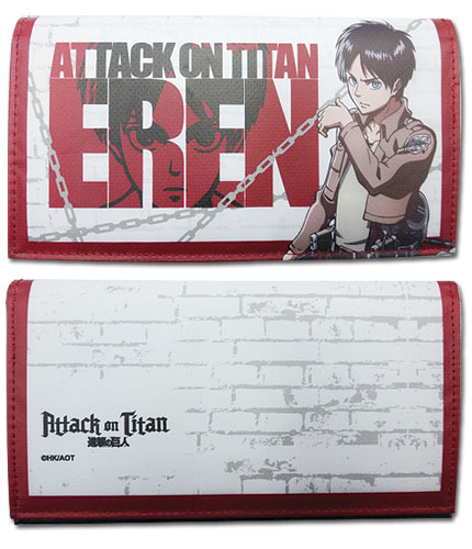Attack On Titan - Eren Girl Wallet, an officially licensed product in our Attack On Titan Wallet & Coin Purse department.