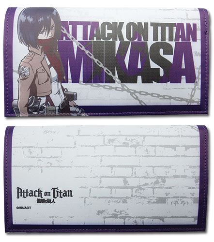 Attack On Titan - Mikasa Girl Wallet, an officially licensed Attack On Titan product at B.A. Toys.