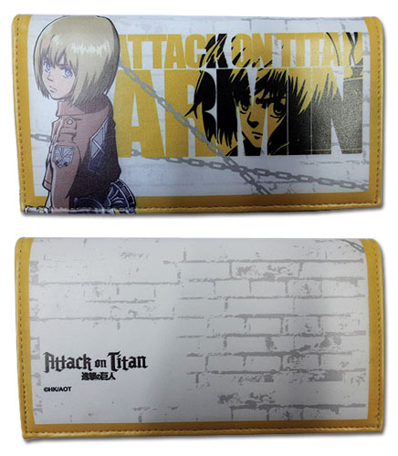 Attack On Titan - Armin Girl Wallet, an officially licensed Attack On Titan product at B.A. Toys.