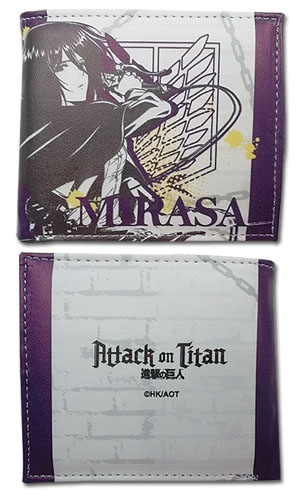 Attack On Titan - Mikasa Boy Wallet officially licensed Attack On Titan Wallet & Coin Purse product at B.A. Toys.