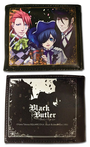 Black Butler B.O.C - Group With Colored Ribbon Wallet, an officially licensed product in our Black Butler Book Of Circus Wallet & Coin Purse department.