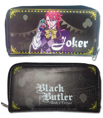 Black Butler B.O.C. - Joker Wallet, an officially licensed product in our Black Butler Book Of Circus Wallet & Coin Purse department.