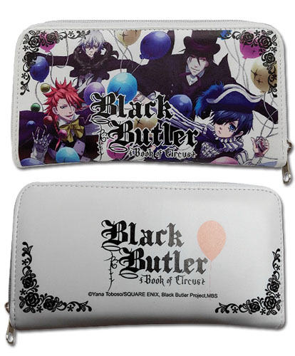 Black Butler B.O.C. - Group With Balloon Wallet, an officially licensed product in our Black Butler Book Of Circus Wallet & Coin Purse department.