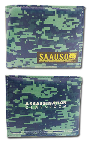 Assassination Classroom - S.A.A.U.S.O. Emblem Boy Wallet, an officially licensed product in our Assassination Classroom Wallet & Coin Purse department.