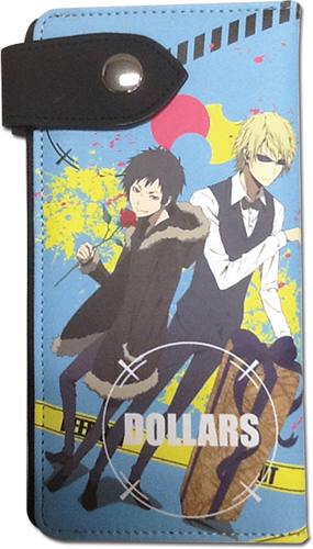 Durarara!!X2 - Izaya & Shizuo Brown Wallet, an officially licensed product in our Durarara!! Wallet & Coin Purse department.