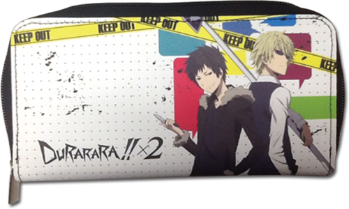 Durarara!!X2 - Izaya & Shizuo Wallet, an officially licensed product in our Durarara!! Wallet & Coin Purse department.