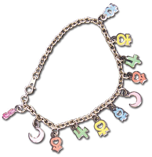 Sailormoon Symbols Bracelet, an officially licensed product in our Sailor Moon Jewelry department.