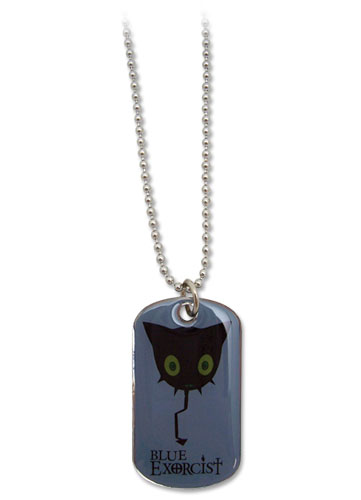 Blue Exorcist Coal Tar Dog Tag Necklace officially licensed Blue Exorcist Jewelry product at B.A. Toys.