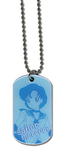 Sailormoon Sailor Mercury Dogtag Necklace, an officially licensed product in our Sailor Moon Jewelry department.