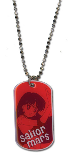 Sailormoon Sailor Mars Dog Tag Necklace, an officially licensed product in our Sailor Moon Jewelry department.