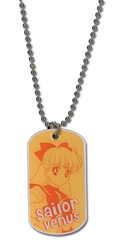 Sailormoon Sailor Venus Dog Tag Necklace, an officially licensed product in our Sailor Moon Jewelry department.
