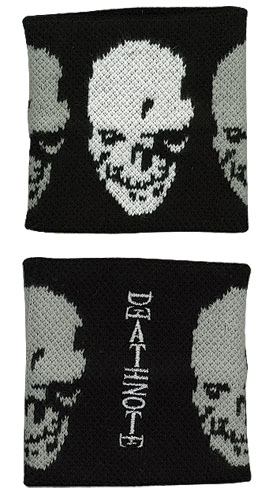 Death Note Skull Icon Wraparound Wristband, an officially licensed product in our Death Note Wristbands department.
