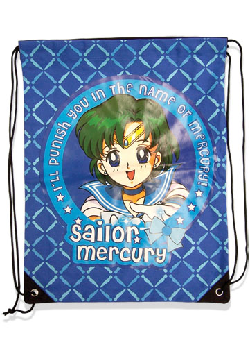 Sailormoon Sailor Mercury Drawstring Bag, an officially licensed product in our Sailor Moon Bags department.