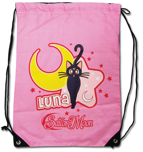 Sailormoon Luna Drawstring Bag, an officially licensed Sailor Moon Bag