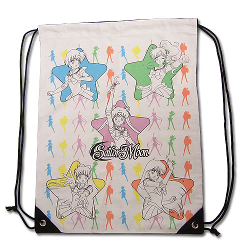 Sailormoon Sailor Soldiers Drawstring Bag, an officially licensed product in our Sailor Moon Bags department.