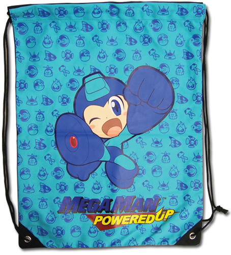 Megaman Powered Up Group Drawstring Bag, an officially licensed product in our Mega Man Bags department.