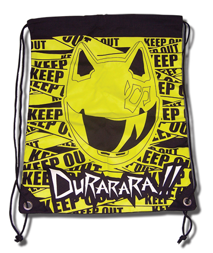 Durarara!! Celty Keep Out Drawstring Bag, an officially licensed product in our Durarara!! Bags department.