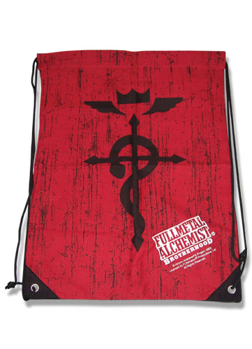 Fullmetal Alchemist Brotherhood Symbols Drawstring Bag, an officially licensed product in our Fullmetal Alchemist Bags department.