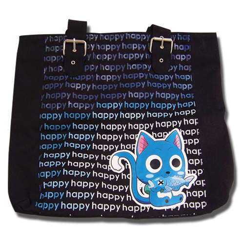 Fairy Tail Happy Tote Bag, an officially licensed product in our Fairy Tail Bags department.