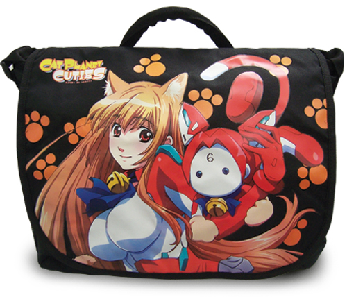 Cat Planet Cuties Eris And Assist-A-Roid Messenger Bag, an officially licensed product in our Cat Planet Cuties Bags department.
