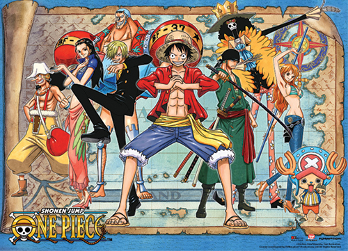 One Piece - Map Background Special Edition Wallscroll, an officially licensed product in our One Piece Wall Scroll Posters department.